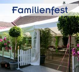 Alles aus einer Hand für Familienfeier im Garten von Zeltverleih Freising, Partyzelt, Catering, Zeltausstattung, Livemusik