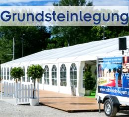 Alles aus einer Hand von Zeltverleih Freising, Zelte, Catering, Zeltausstattung, Künstler für Grundsteinlegung